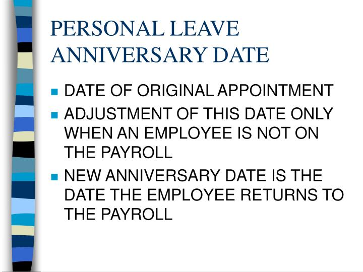 PERSONAL LEAVE