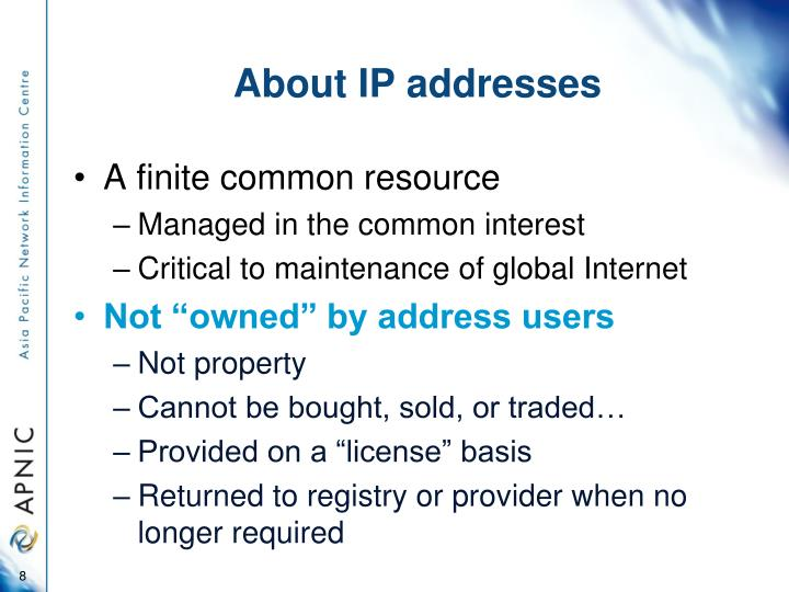 About IP addresses