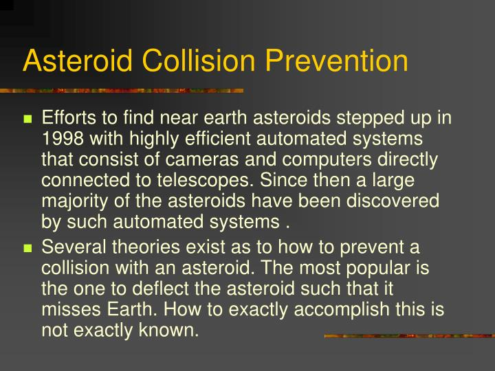 Asteroid Collision Prevention