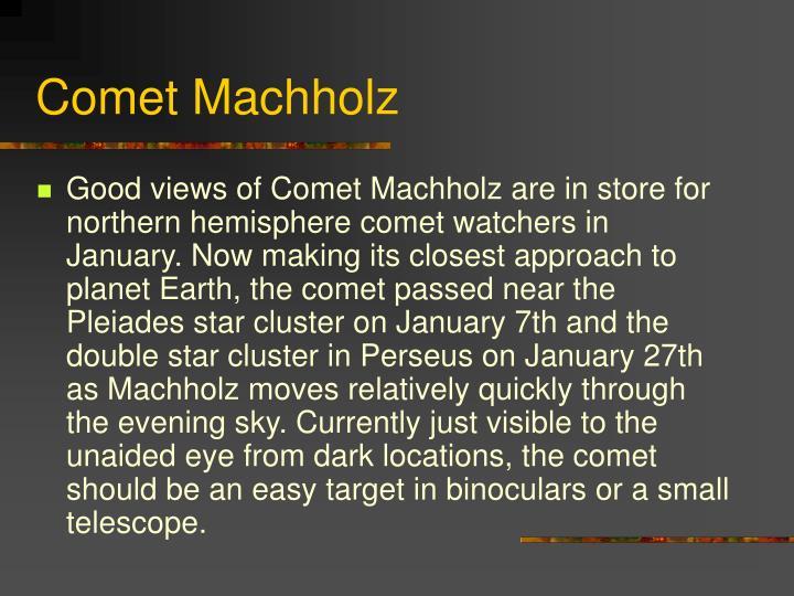 Comet Machholz