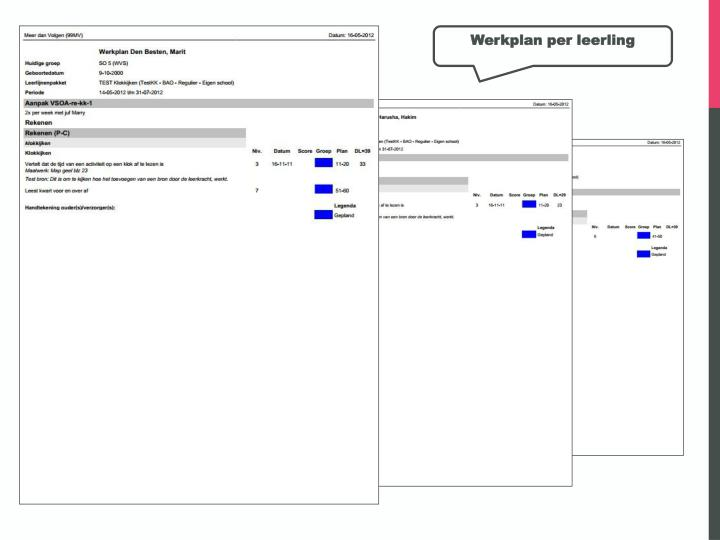 Werkplan per leerling
