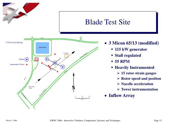 Blade Test Site