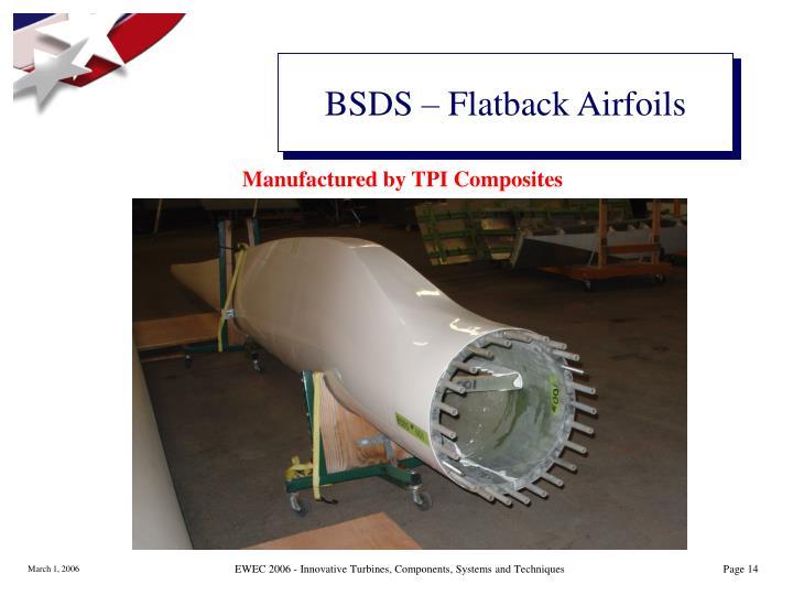 BSDS – Flatback Airfoils