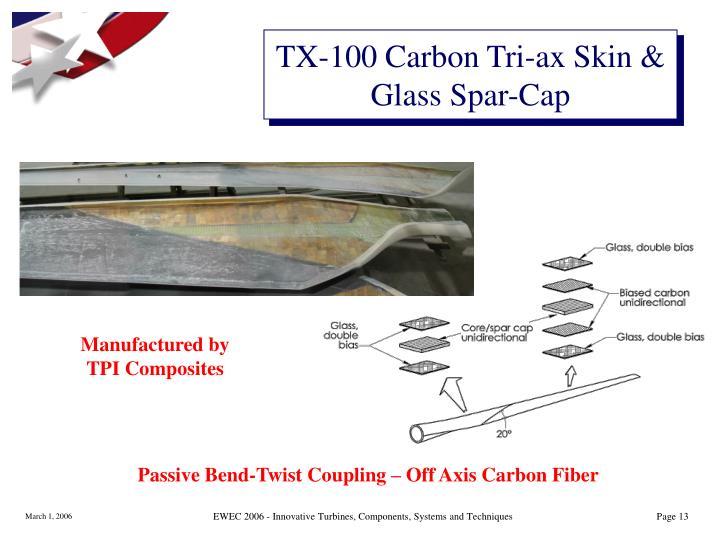 TX-100 Carbon Tri-ax Skin & Glass Spar-Cap