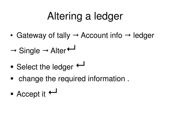 Altering a ledger