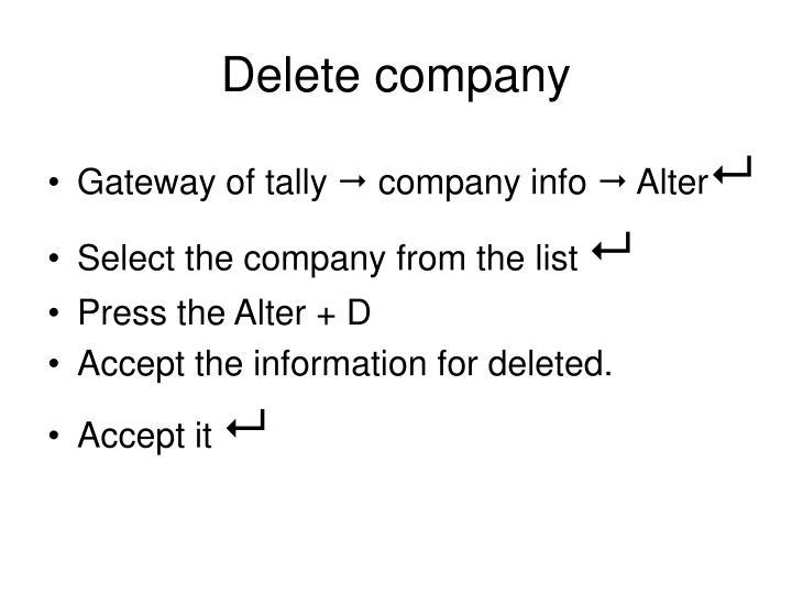Delete company
