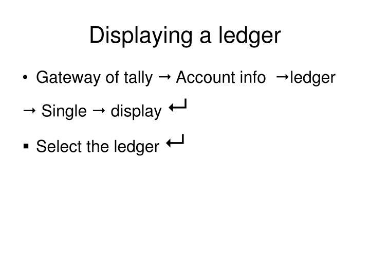 Displaying a ledger