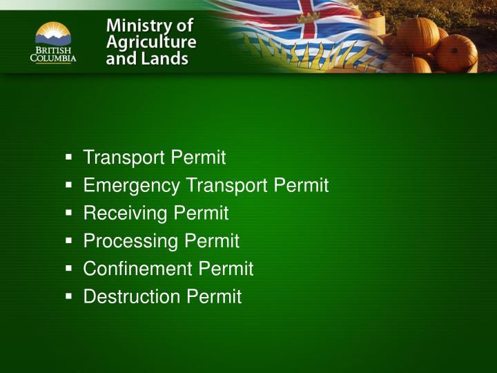 Transport Permit