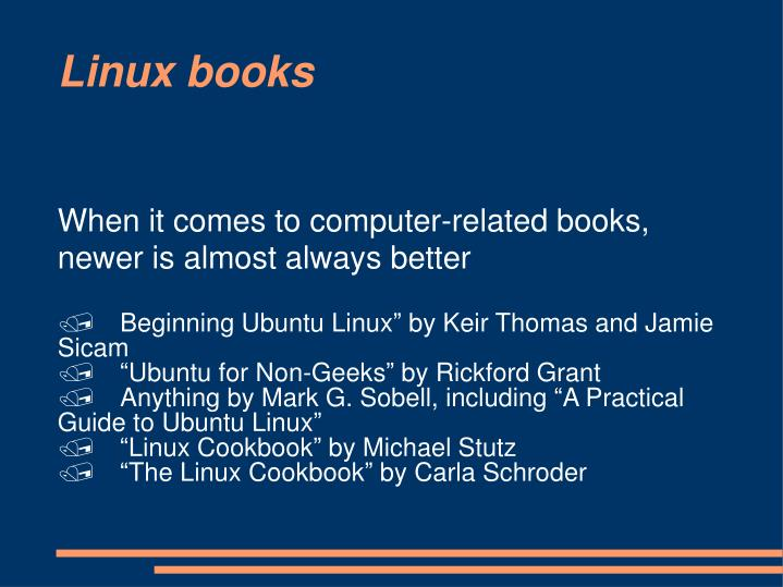 When it comes to computer-related books, newer is almost always better