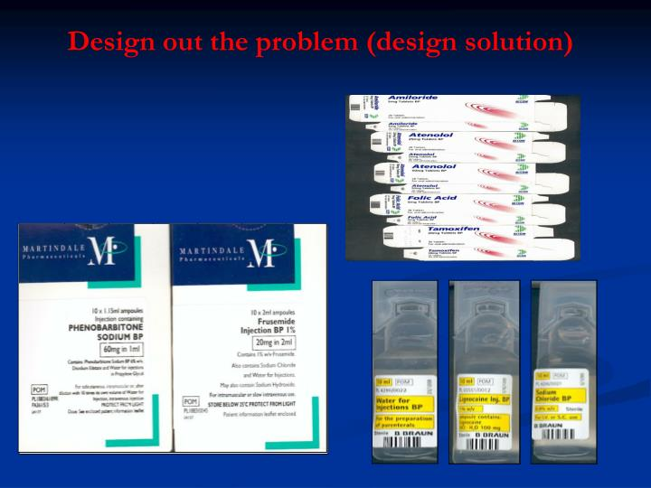 Design out the problem (design solution)