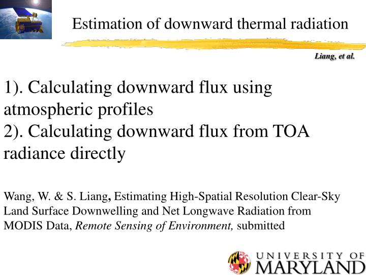 Estimation of downward thermal radiation