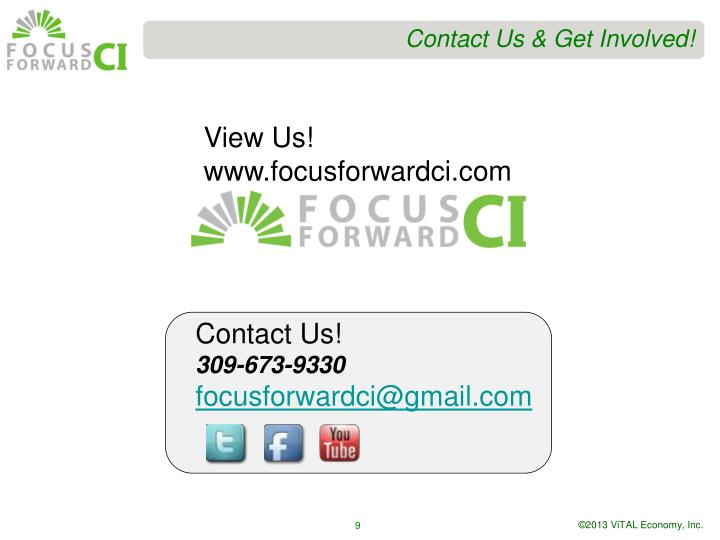 Contact Us & Get Involved!