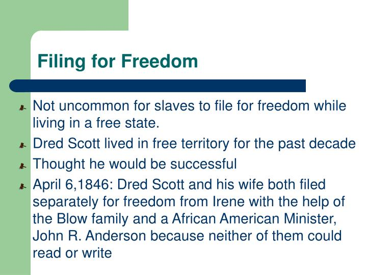 Filing for Freedom