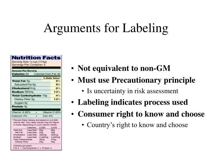 Arguments for Labeling