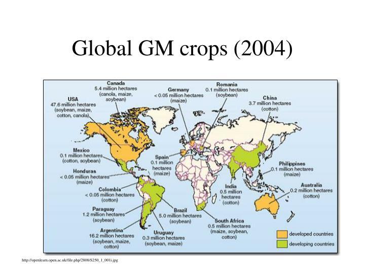 Global GM crops (2004)