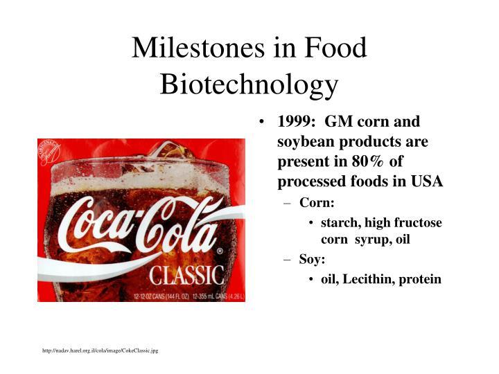 Milestones in Food Biotechnology