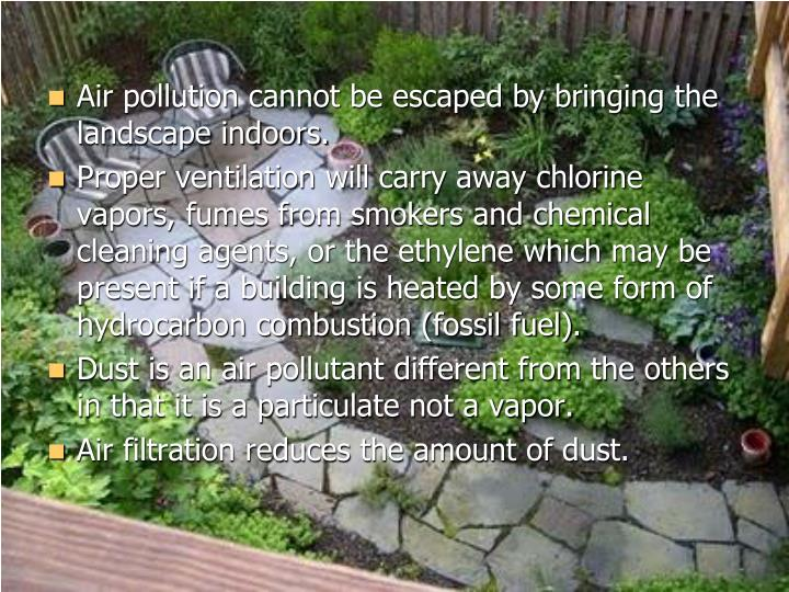 Air pollution cannot be escaped by bringing the landscape indoors.