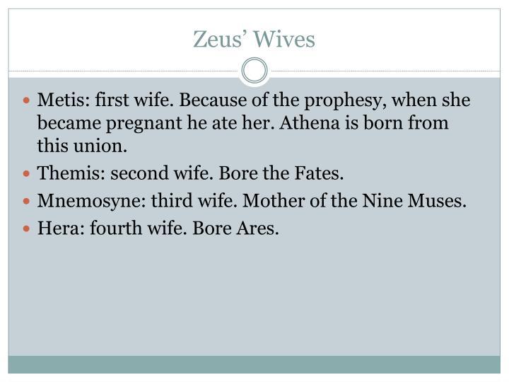 Zeus' Wives