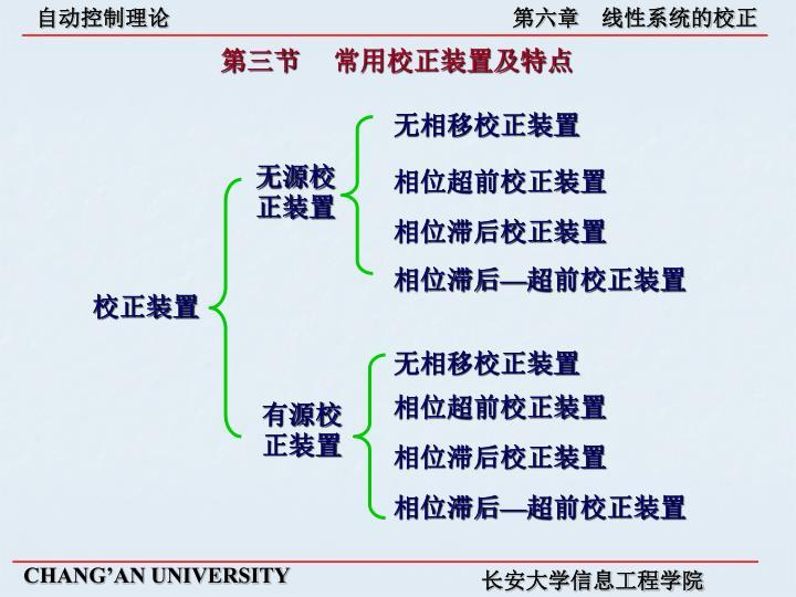 第三节     常用校正装置及特点
