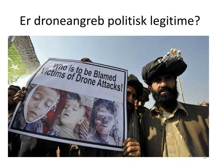 Er droneangreb politisk legitime?