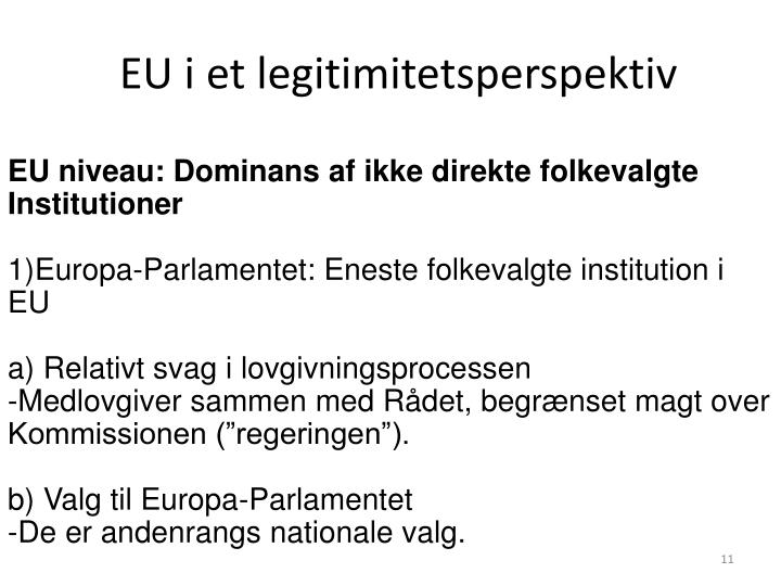 EU i et legitimitetsperspektiv