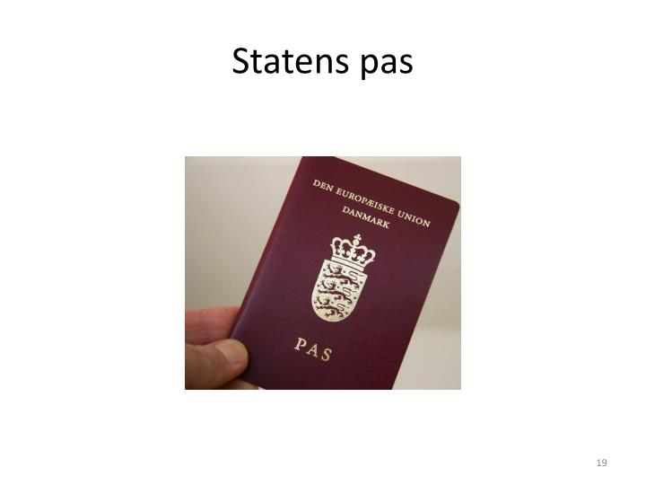 Statens pas
