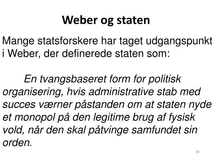 Weber og staten