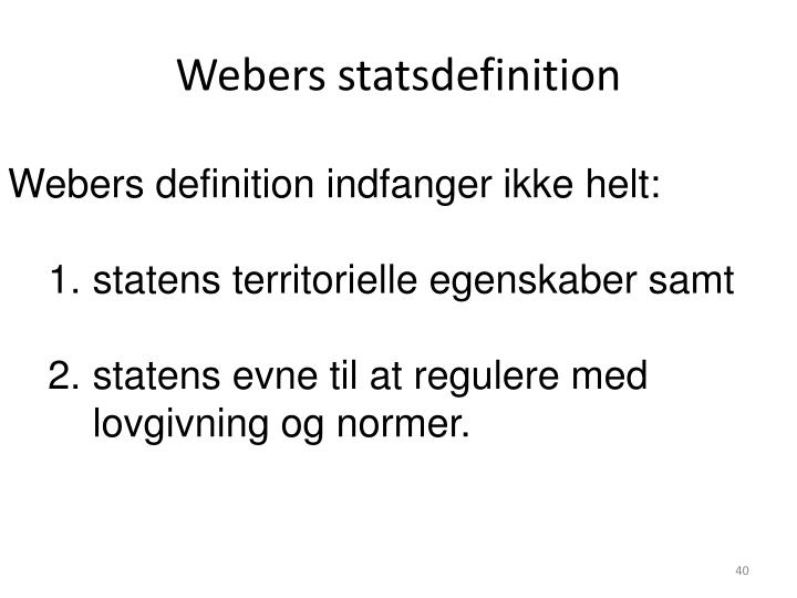 Webers statsdefinition
