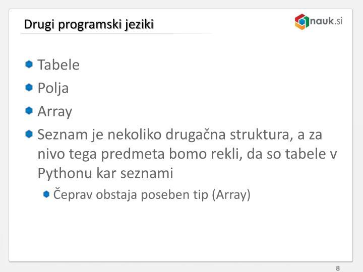 Drugi programski jeziki