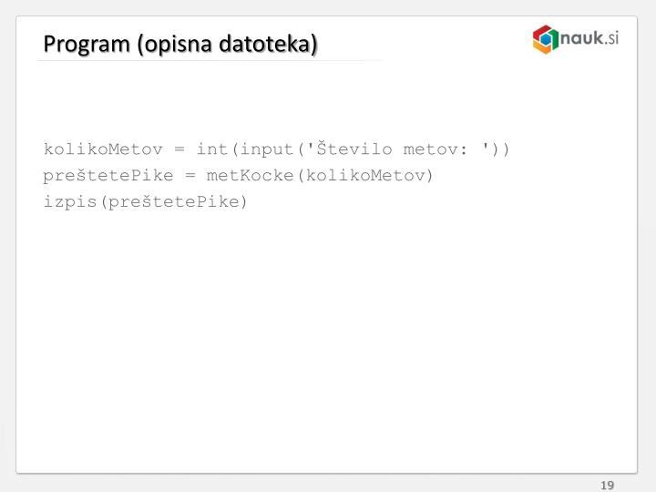 Program (opisna datoteka)