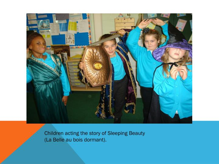 Children acting the story of Sleeping Beauty