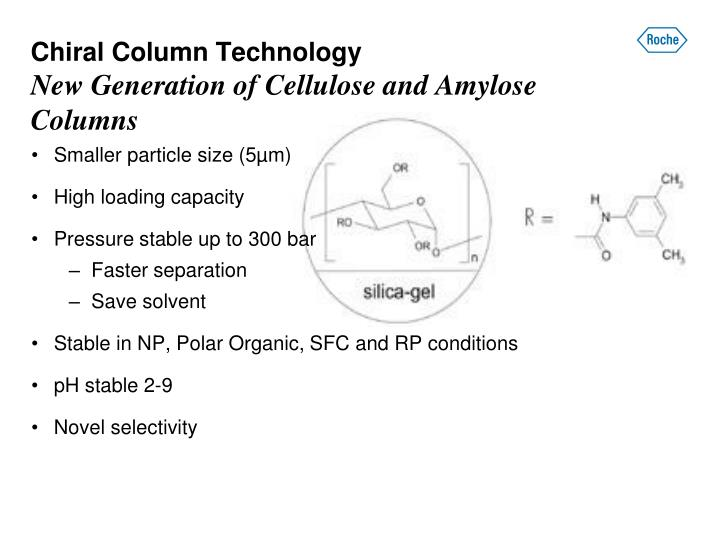 Chiral column technology new generation of cellulose and amylose columns