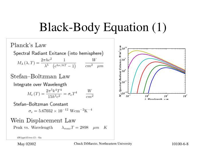Black-Body Equation (1)