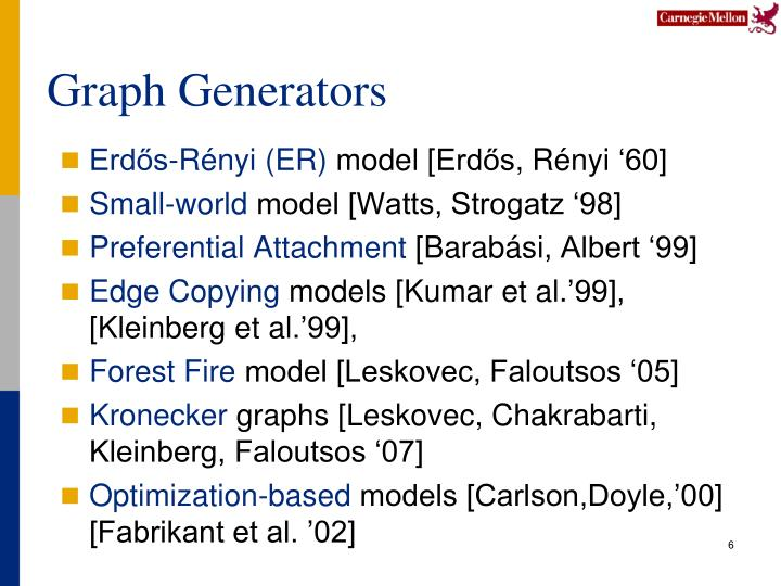 Graph Generators
