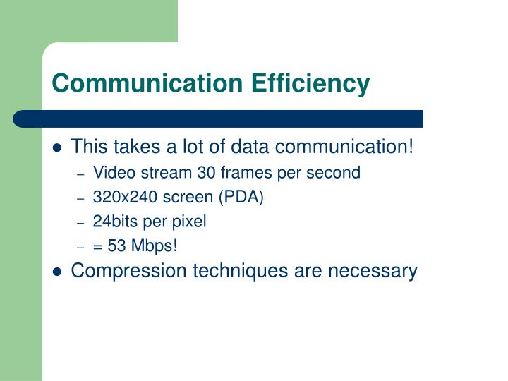Communication Efficiency