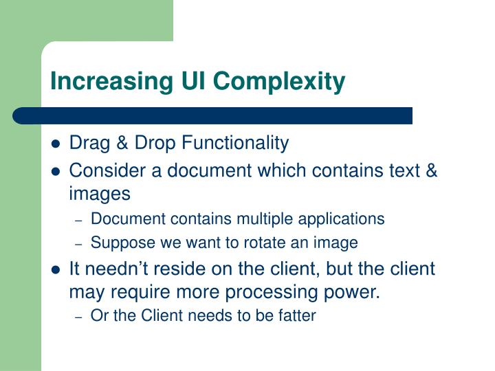 Increasing UI Complexity