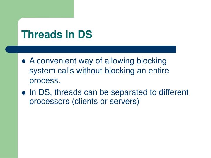 Threads in DS
