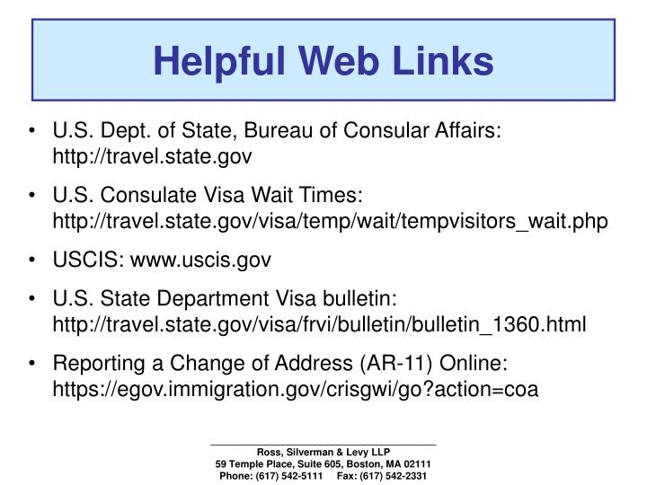 Helpful Web Links
