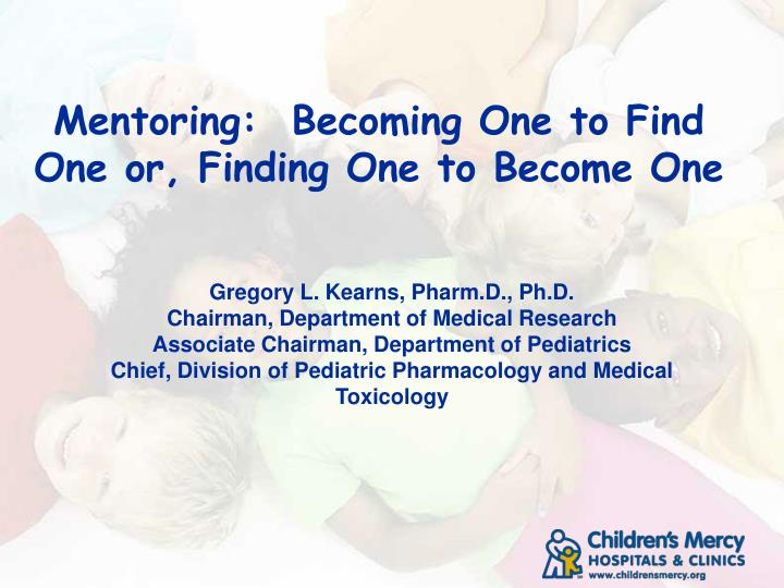 Mentoring becoming one to find one or finding one to become one