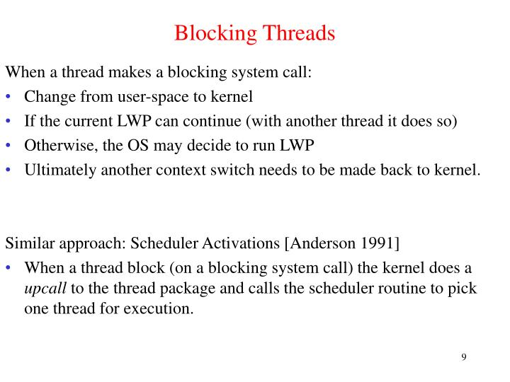 Blocking Threads