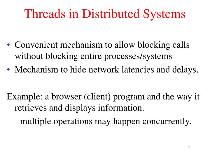 Threads in Distributed Systems