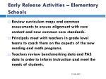 early release activities elementary schools