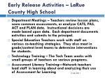 early release activities larue county high school