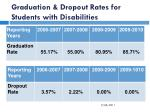 graduation dropout rates for students with disabilities