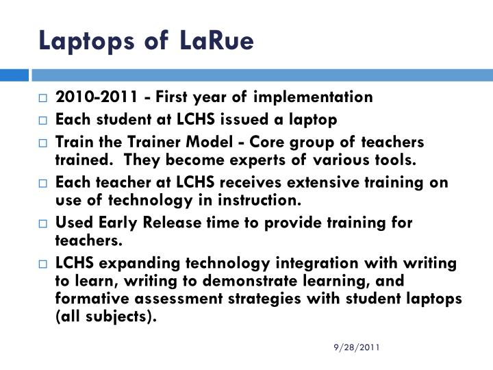Laptops of LaRue