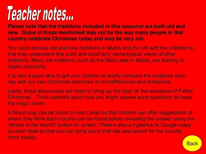 Teacher notes...