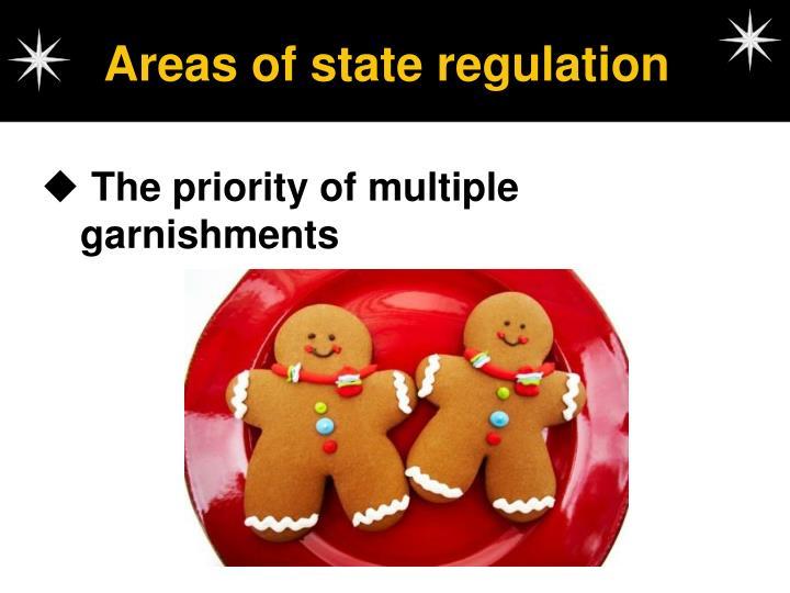 Areas of state regulation