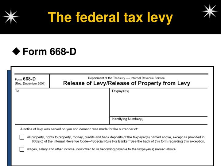 The federal tax levy