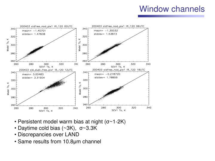 Window channels