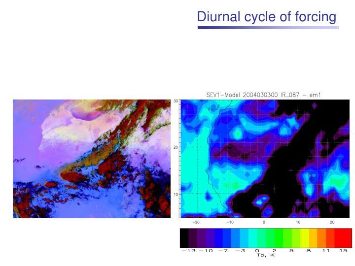 Diurnal cycle of forcing
